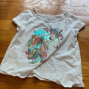 Children's place unicorn shirt